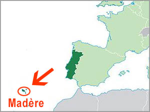madere position geographique