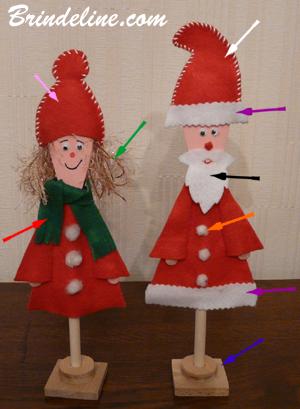 Brindeline - Décoration de Noël à faire soi-même : Père-Noël et Mère-Noël